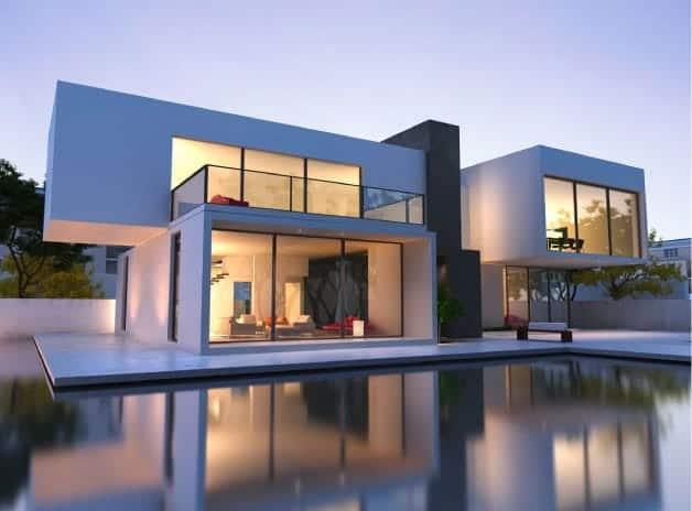 ein mehrfamilienh user moderner neubau mit bannwegbau. Black Bedroom Furniture Sets. Home Design Ideas