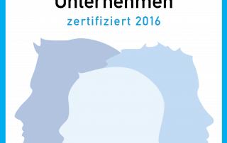 Familienfreundliches Unternehmen zertifiziert 20162016