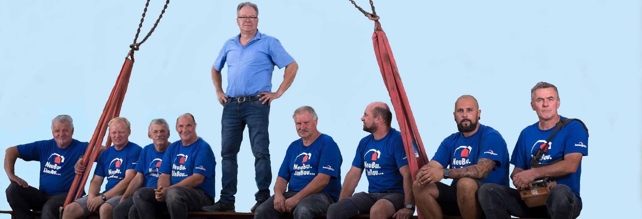 Team Bauunternehmen bannwegBau Saarlouis